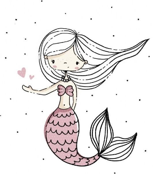 Plottervorlage Meerjungfrau Ella