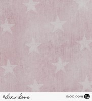 denimlove STARS - Jeans Rosa *Bio-Sommersweat*