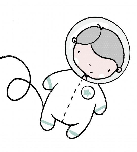 Plottervorlage Astronaut