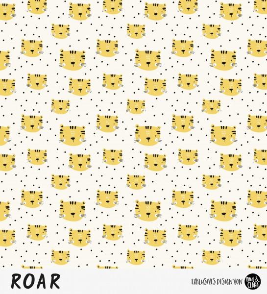 Eigenproduktion ROAR - Kombi Tigerkopf Creme/Gelb *Jersey*