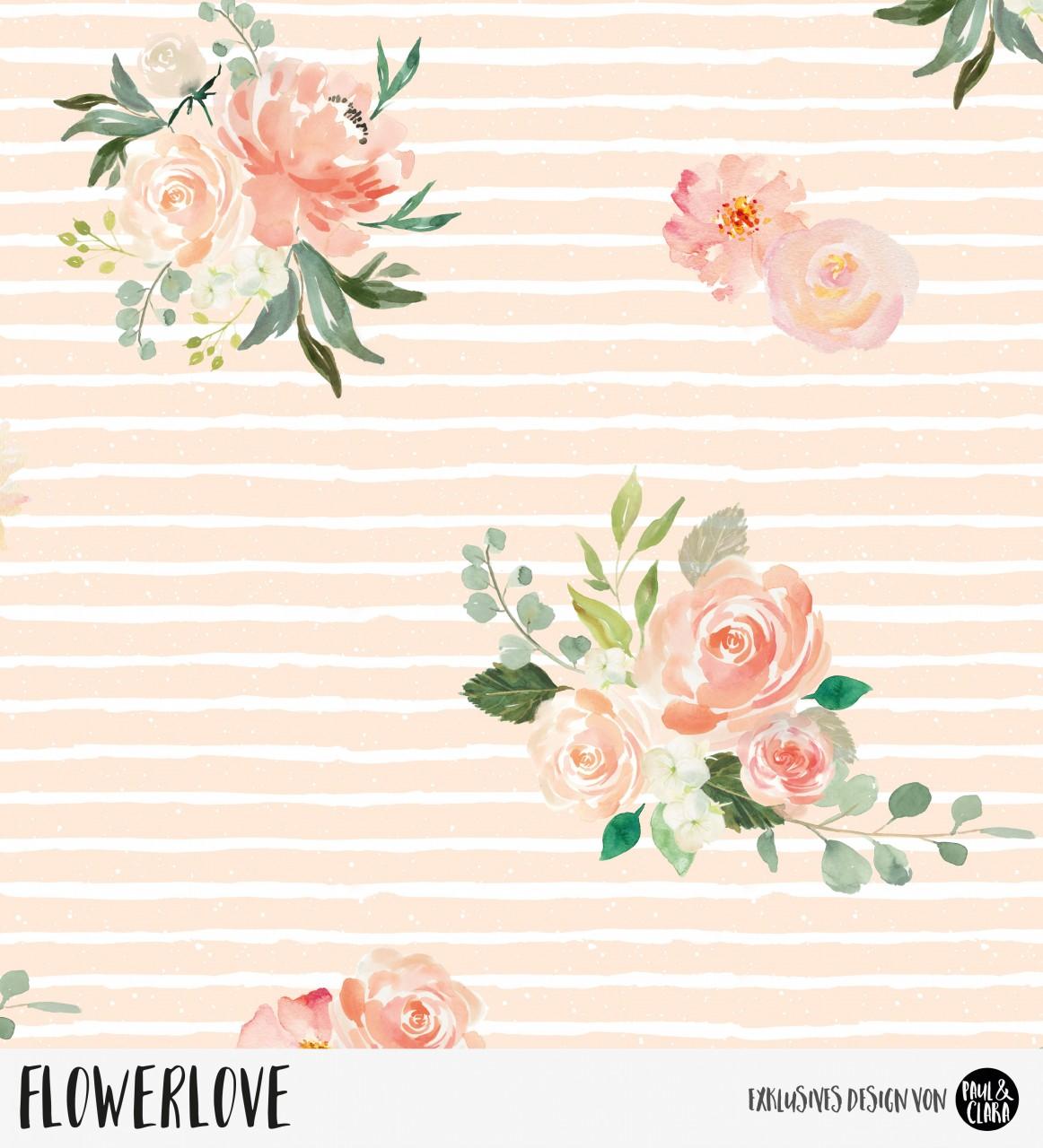 Flowerlove - Peach *Bio-Sommersweat*
