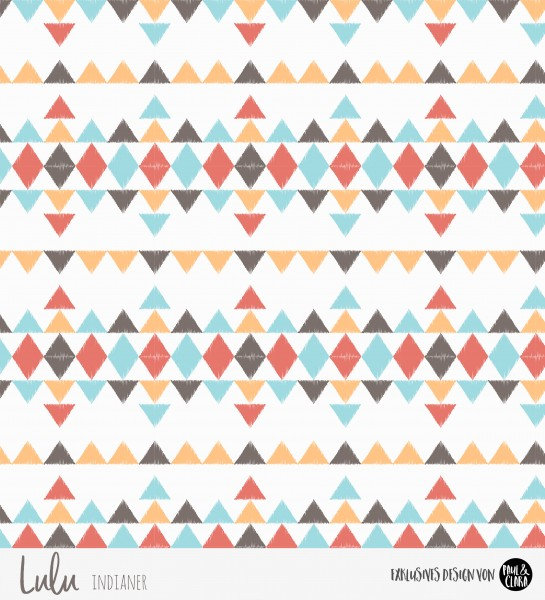 Eigenproduktion Lulu Indianer - Kombi Dreiecke Rost *Jersey*-RESTSTÜCK 47 cm