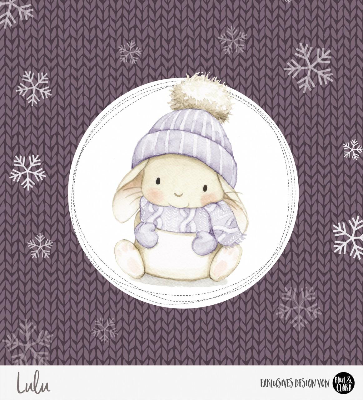 Lulu Winter - Panel Lila 60 cm *Bio-Sommersweat*