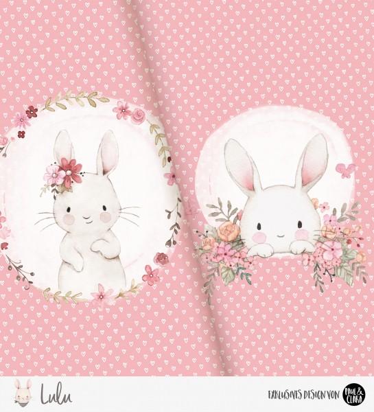 Lulu - Panel Flowers Pink *Bio-Jersey*