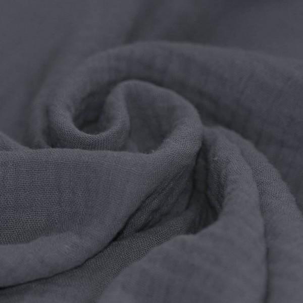 Baumwolle Musselin - Dunkelgrau