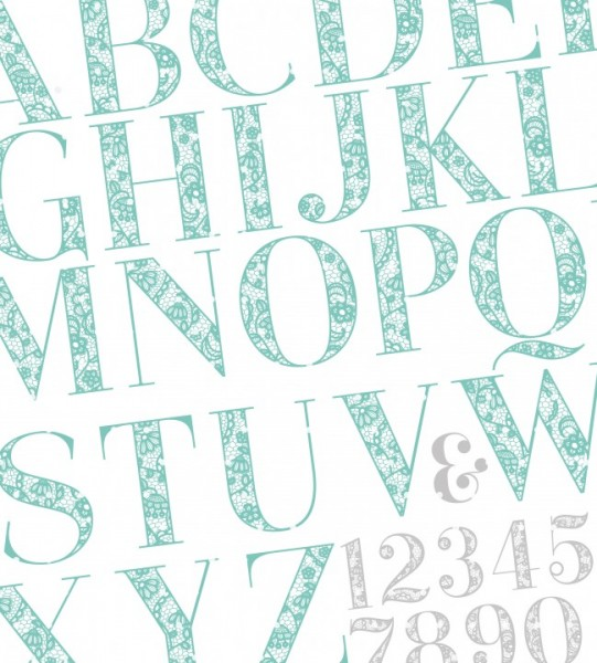 Plottervorlage Lace Letters