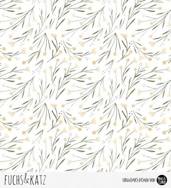 Eigenproduktion Fuchs & Katz - Blumen Kombi Braun *Sommersweat*