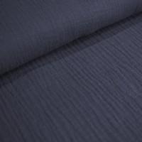 Baumwolle Musselin - Rauchblau