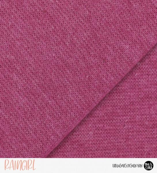 Bündchen Fein - pink meliert *Schlauchware*