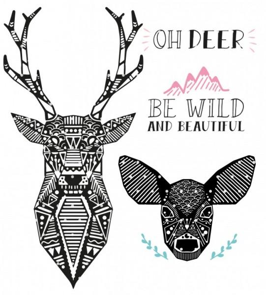 Plottervorlage Boho deer