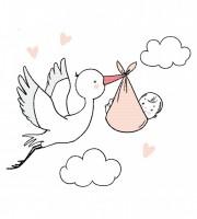 Plottervorlage Mutterliebe Storch