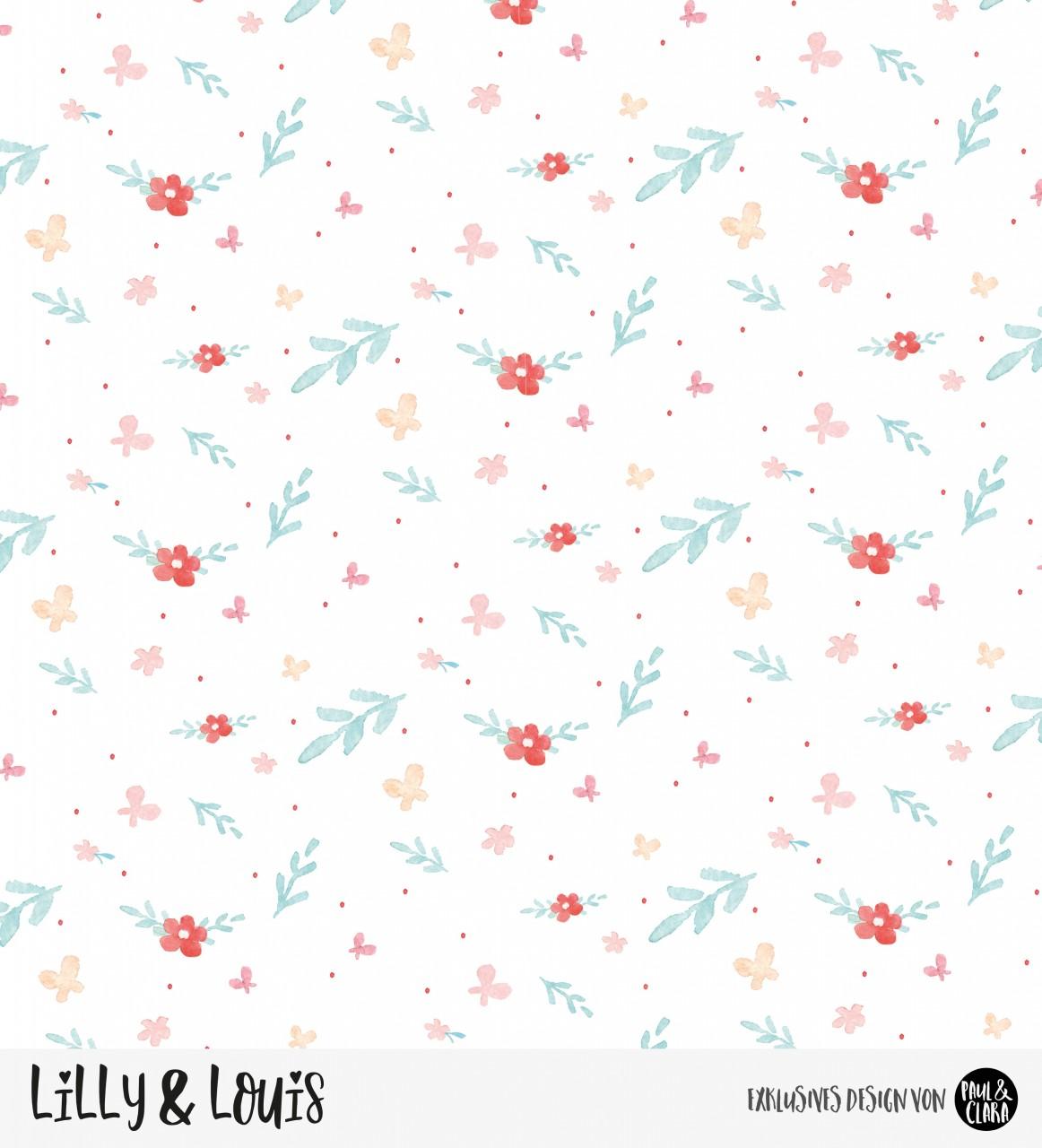 Eigenproduktion Lilly & Louis - Kombi Blumen *Jersey*