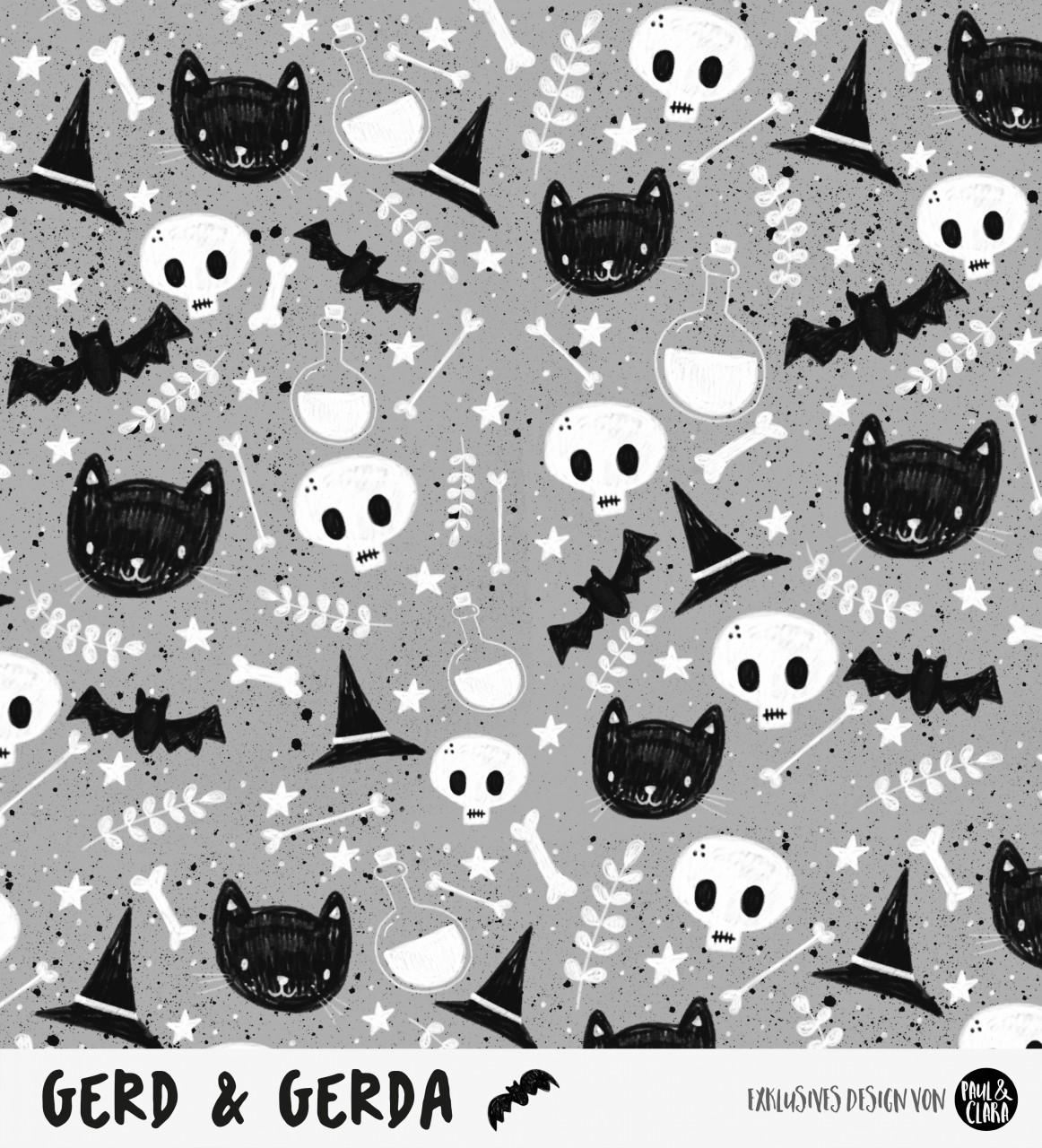 Gerd & Gerda - Allover GRAU *Bio-Sommersweat*