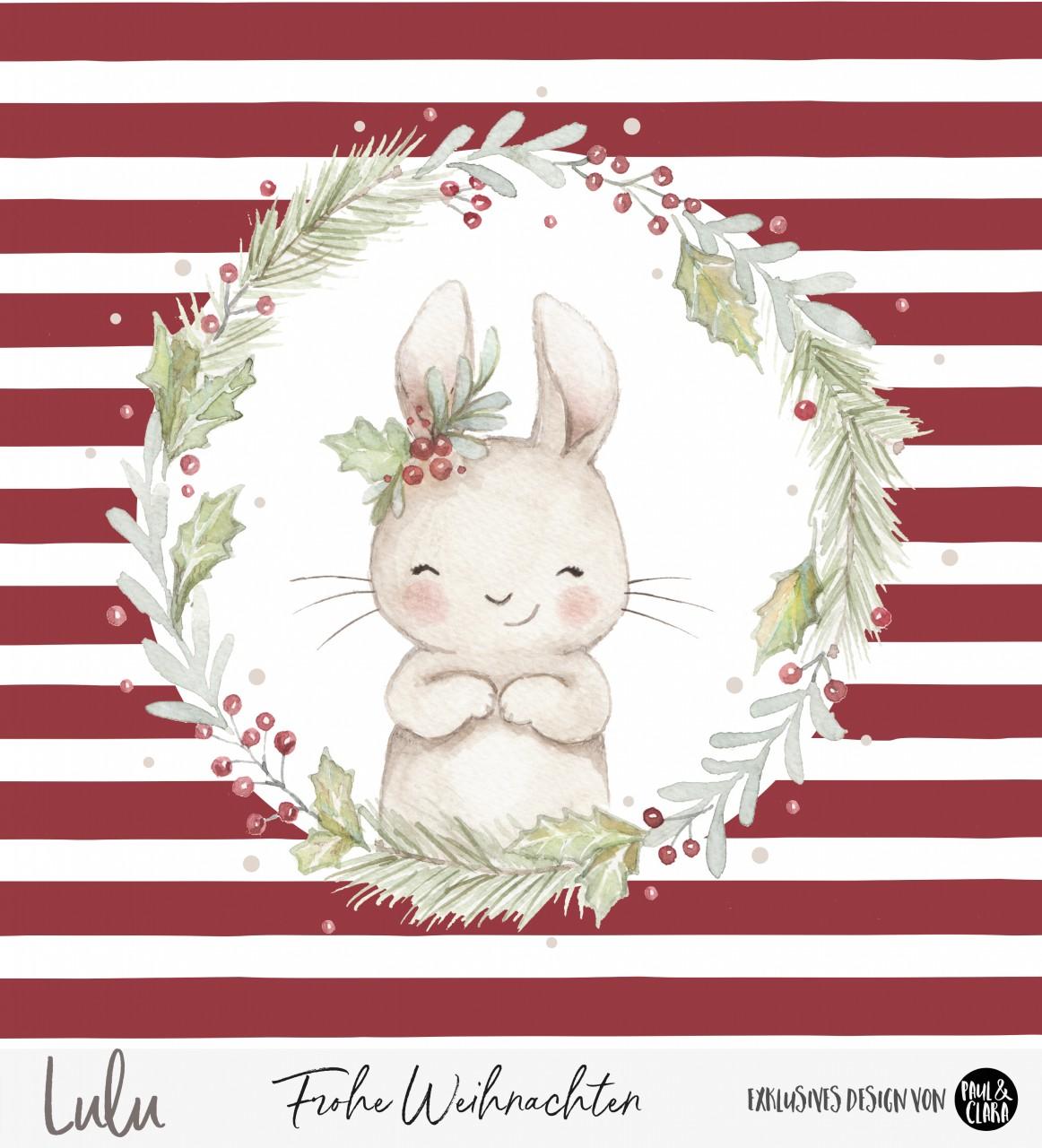 Lulu Weihnachten - Panel Rot 60 cm *Bio-Sommersweat*