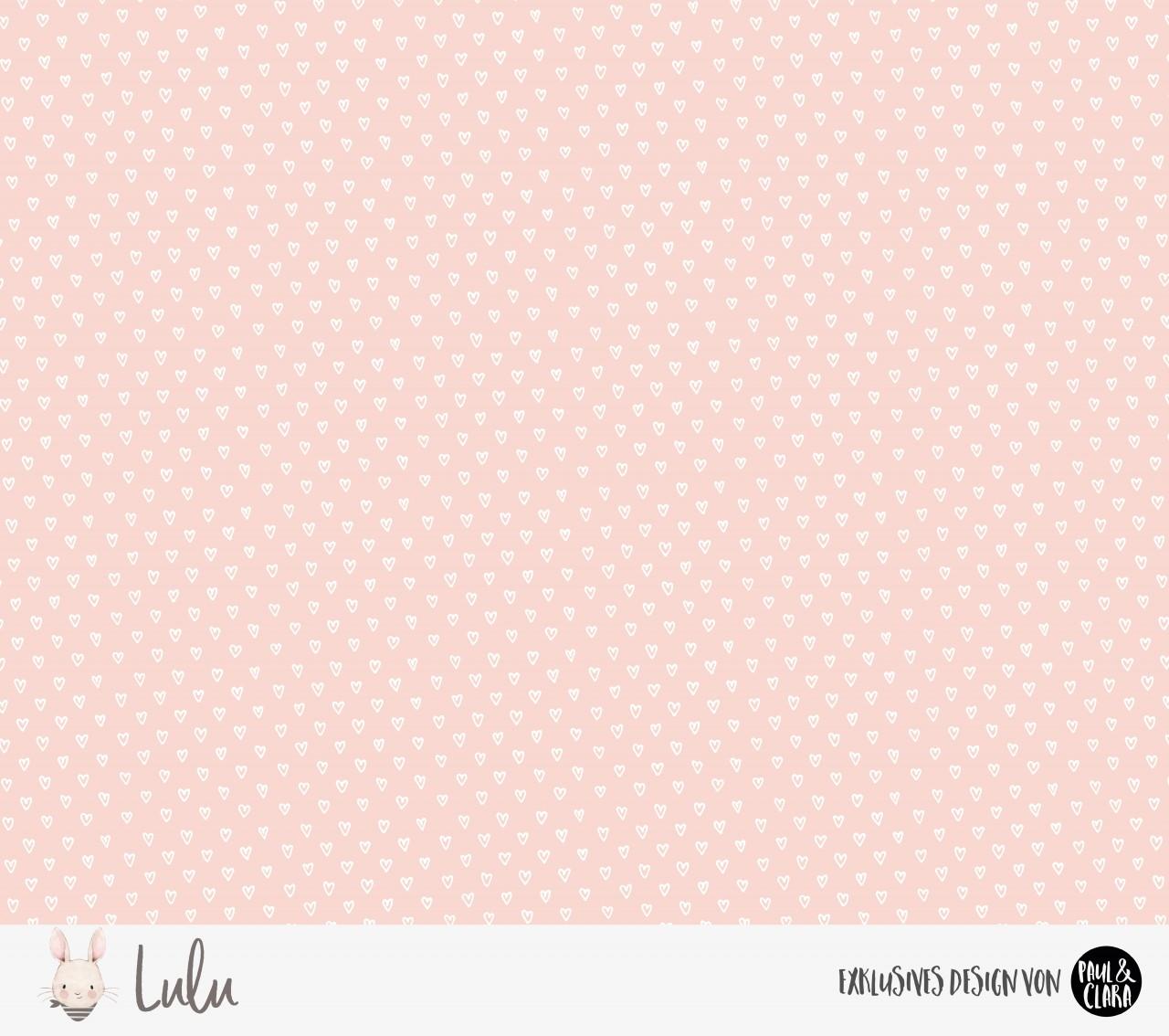 Eigenproduktion Lulu Kombi Herzen ROSA - Jersey