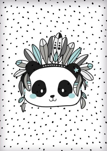 Postkarte *Boho Panda* A6