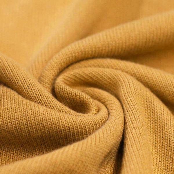 Feinstrick Strickstoff Baumwolle - Ocker