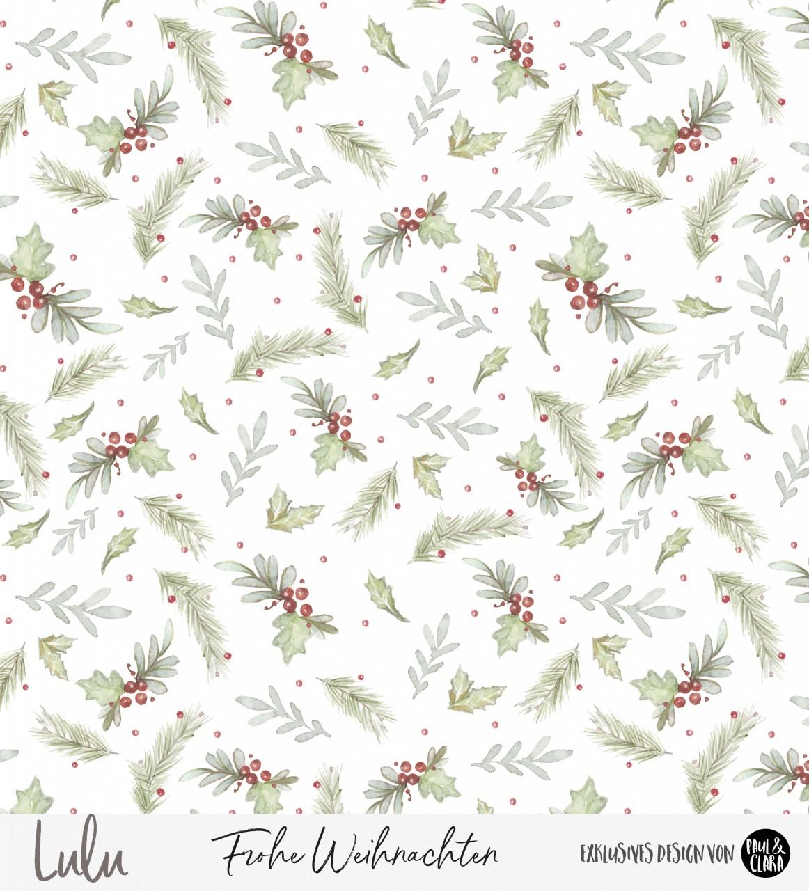Lulu Weihnachten - Blumen Kombi *Bio-Sommersweat*