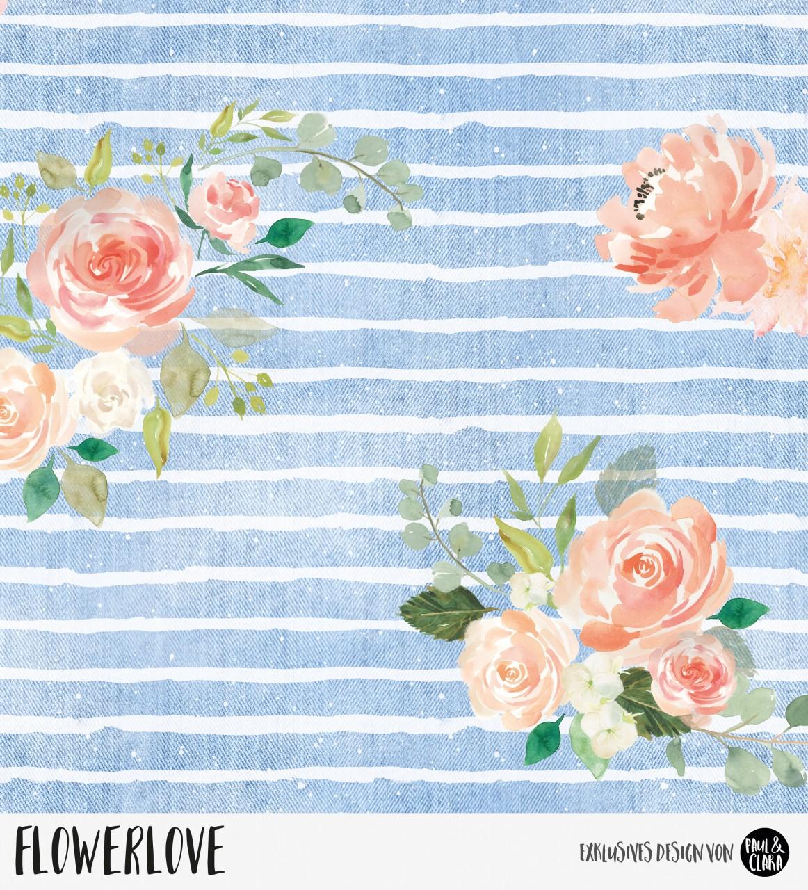 Flowerlove - Denim *Bio-Jersey*