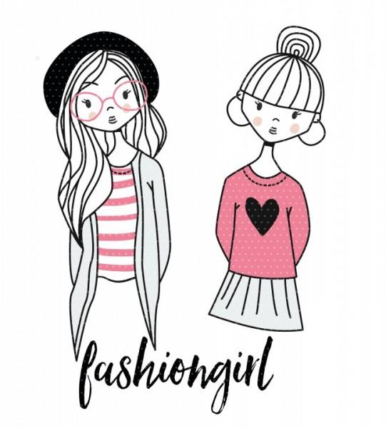 Applikationsvorlage Fashiongirls