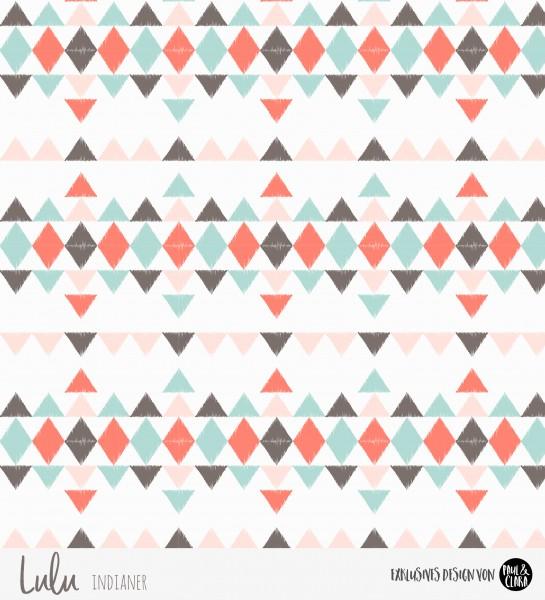 Eigenproduktion Lulu Indianer - Kombi Dreiecke Mint *Jersey*