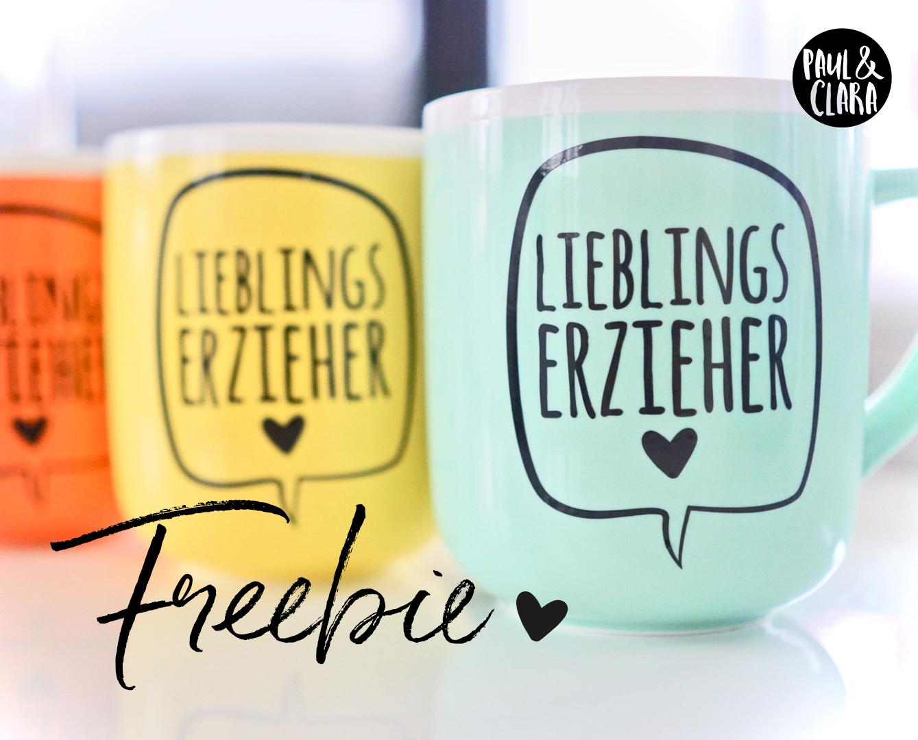 Freebie* Lieblingserzieher | Paul & Clara