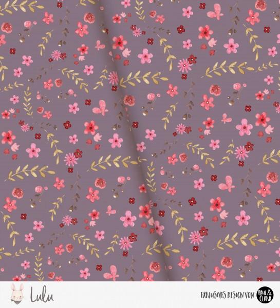 Lulu - Flowers Lila *Bio-Jersey*