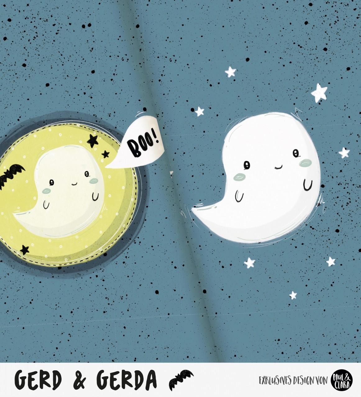 Gerd & Gerda - Panel RAUCHBLAU *Bio-Sommersweat*