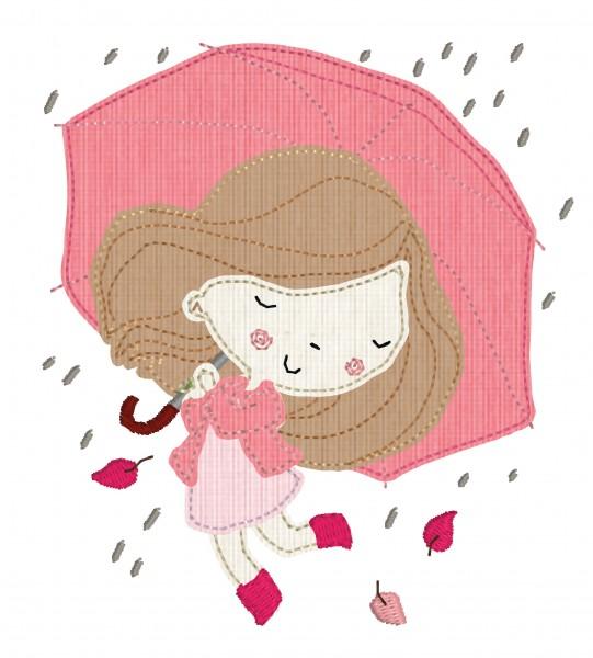 Stickdatei Raingirl Rosa
