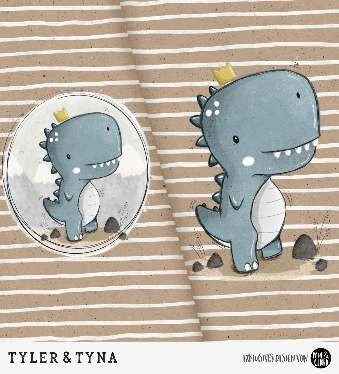 Tyler & Tyna - Panel Braun *Bio-Sommersweat*