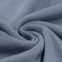 Feinstrick Strickstoff Baumwolle - Rauchblau
