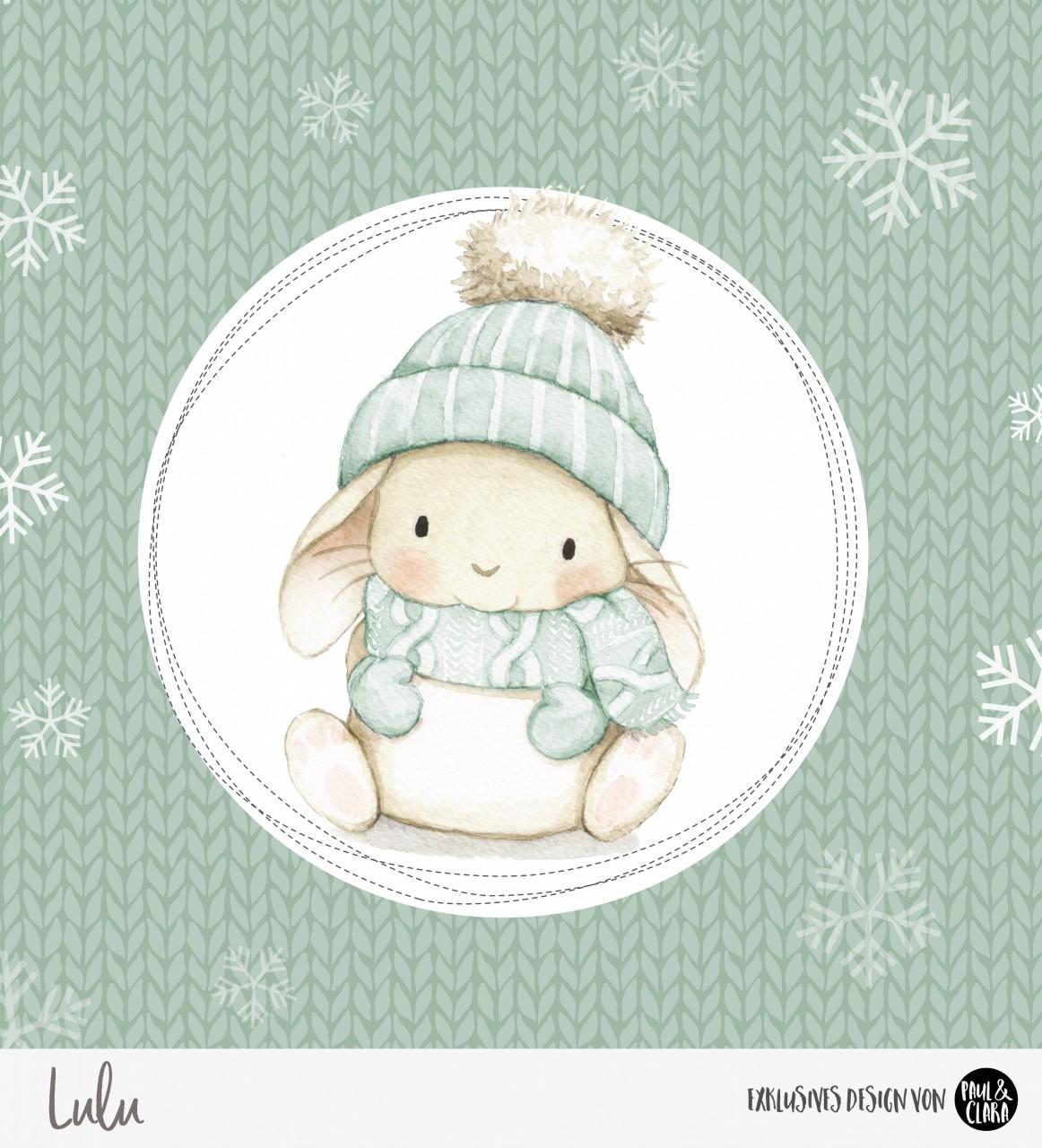 Lulu Winter - Panel Mint 60 cm *Bio-Sommersweat*