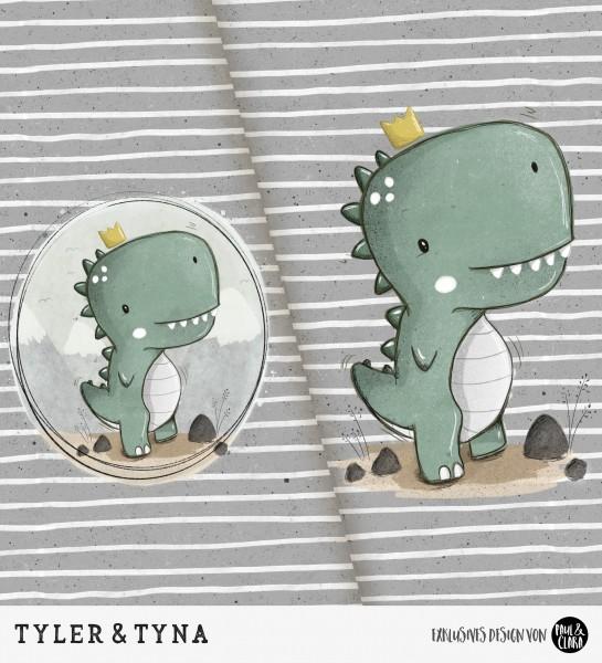 Tyler & Tyna - Panel Grau *Bio-Jersey*