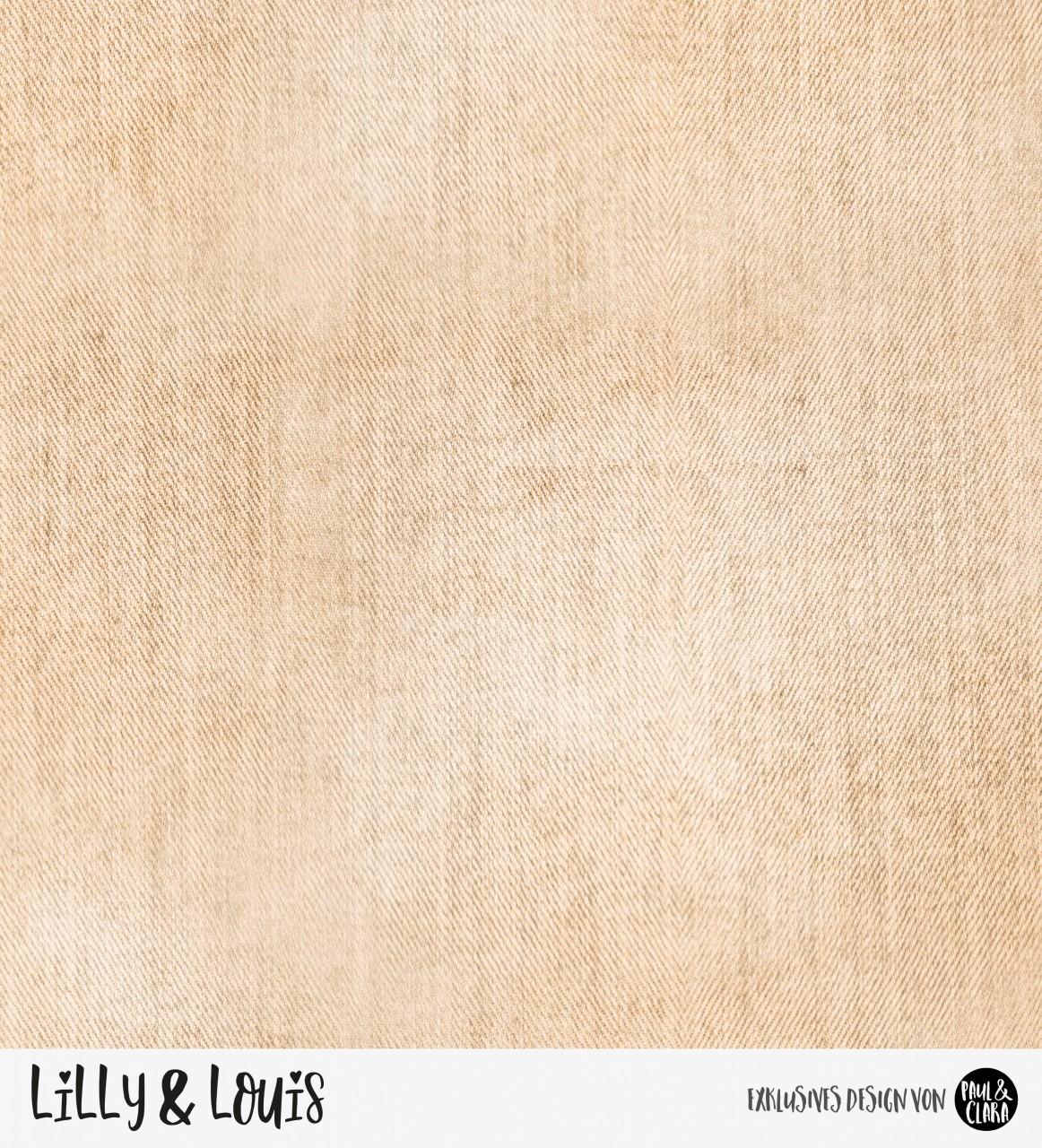 Eigenproduktion Lilly & Louis - Jeans Beige *Sommersweat* RESTSTÜCK