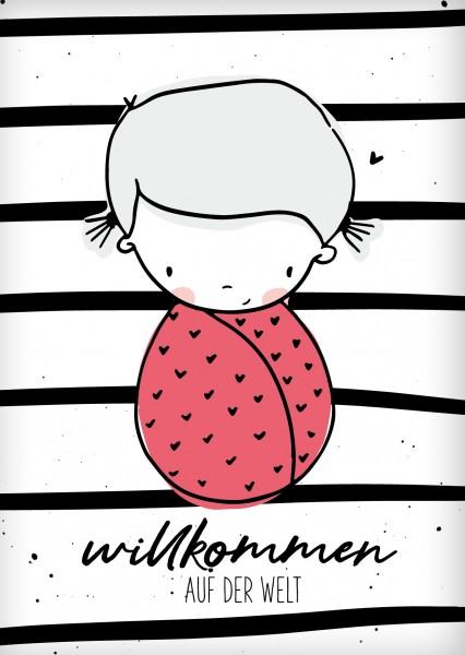 Postkarte *Willkommen Babygirl* A6
