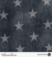 denimlove STARS - Jeans Schwarz *Bio-Sommersweat*