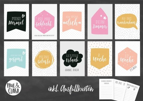 Printable Milestonecards Schwangerschaft