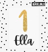 *ADD-ON* Personalisiertes BÜGELBILD für das Panel *Geburtstags Ella & Elmo*