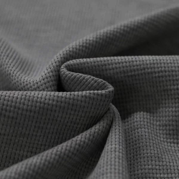 Waffelstrick Baumwolle - Dunkelgrau
