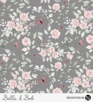 Bella - Blumen Dunkelgrau *Bio-Jersey*-