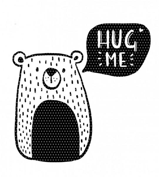 Plottervorlage Hug me Bär