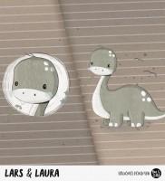 Lars & Laura - Panel Braun *Bio-Sommersweat*