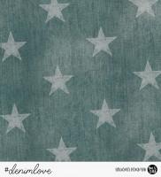 denimlove STARS - Jeans Petrol *Bio-Sommersweat*