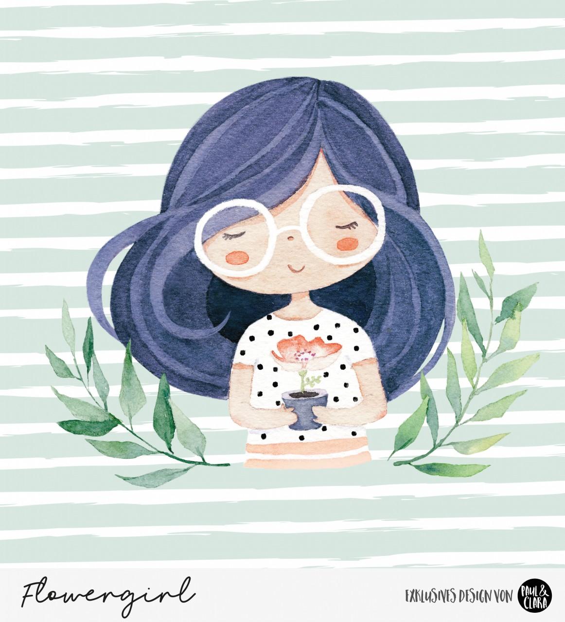 Eigenproduktion Flowergirl - Panel 60 cm *Jersey*