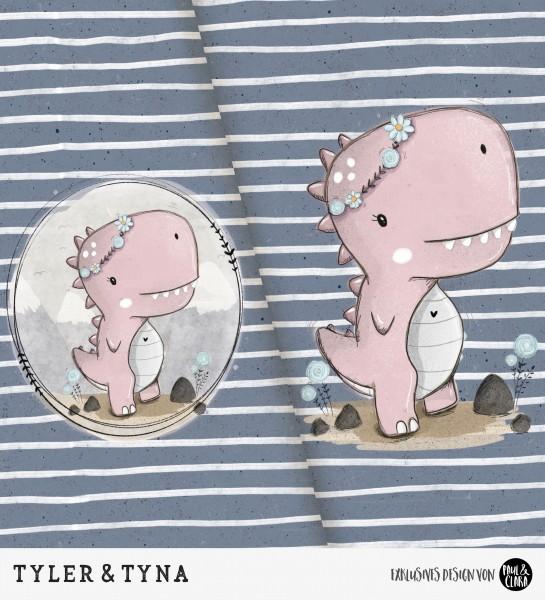 Tyler & Tyna - Panel Rosa *Bio-Sommersweat*