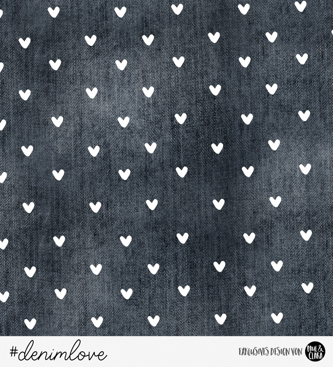denimlove - Schwarze Herzen *Bio-Sommersweat*