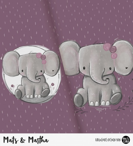 Mats & Martha - Panel MALVE *Bio-Jersey*