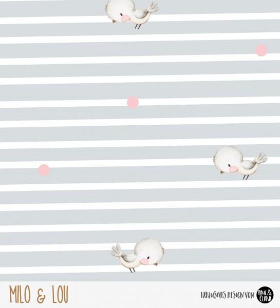 Eigenproduktion Milo & Lou Kombi - Lovely Birds - French Terry
