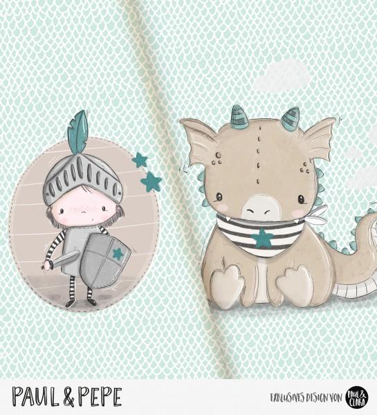 Paul & Pepe - Panel Mint-Beige *Bio-Jersey*