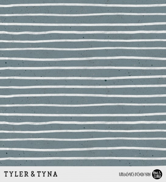 Tyler & Tyna - Streifen Petrol *Bio-Jersey*